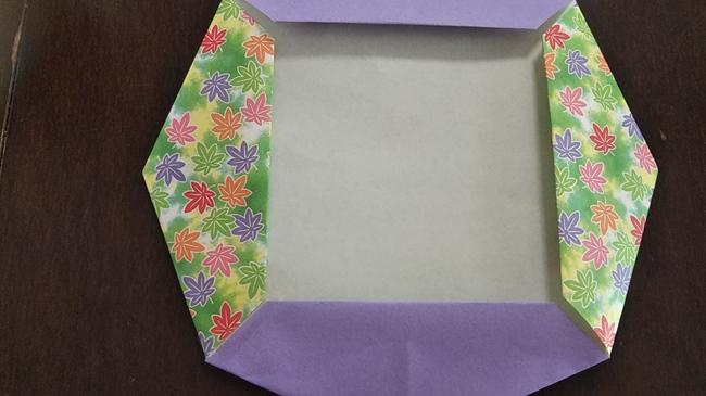 折り紙のリース4枚でつくる作り方