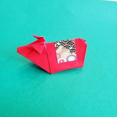 【折り紙の牛】一枚でつくる折り方★立体的だけど簡単!十二支(干支)をつくろう