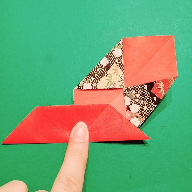 【1月】折り紙のお正月リースの作り方 (11)