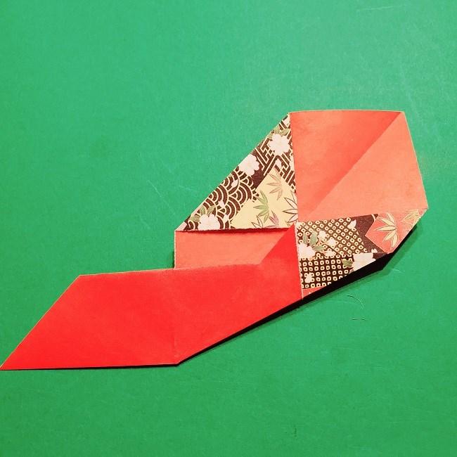 【1月】折り紙のお正月リースの作り方 (12)
