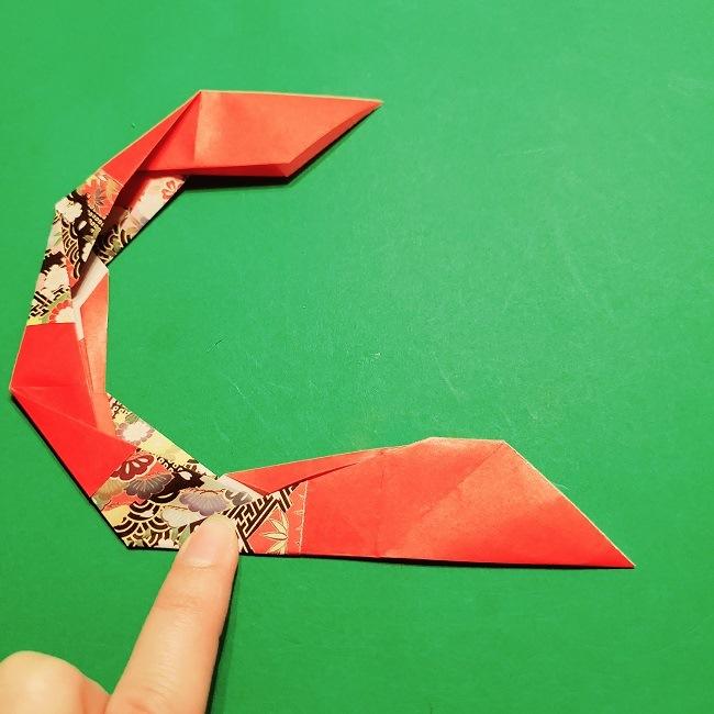 【1月】折り紙のお正月リースの作り方 (18)