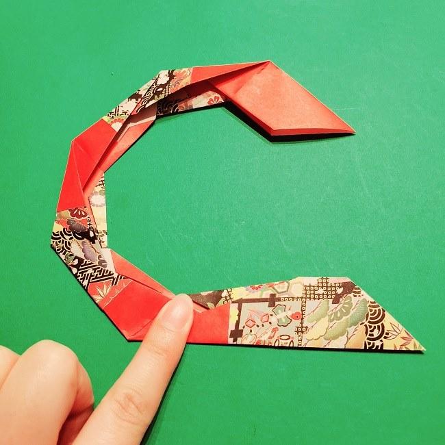 【1月】折り紙のお正月リースの作り方 (19)
