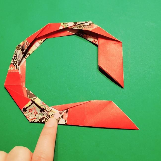 【1月】折り紙のお正月リースの作り方 (20)