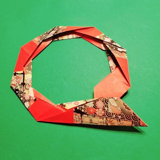 【1月】折り紙のお正月リースの作り方 (21)