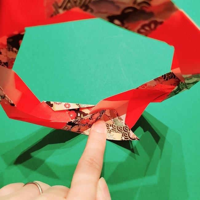 【1月】折り紙のお正月リースの作り方 (22)