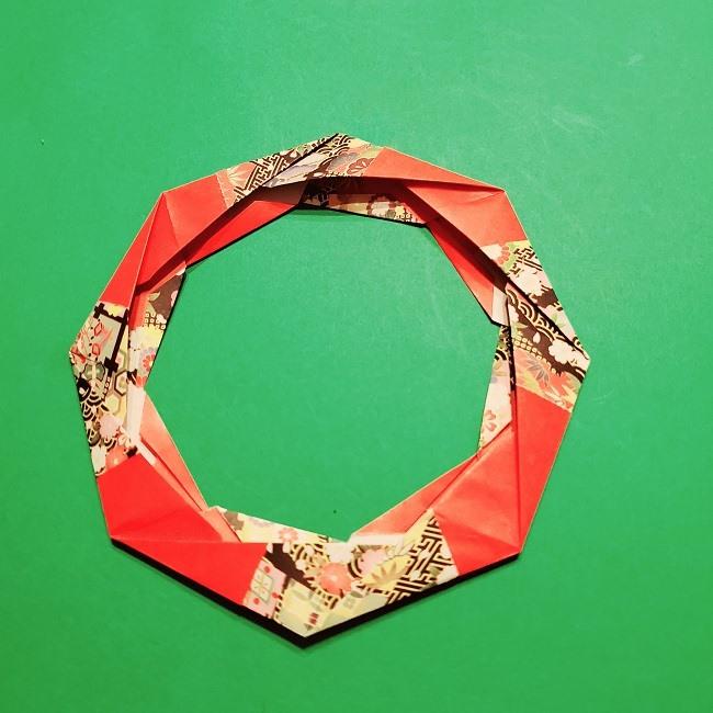 【1月】折り紙のお正月リースの作り方 (23)