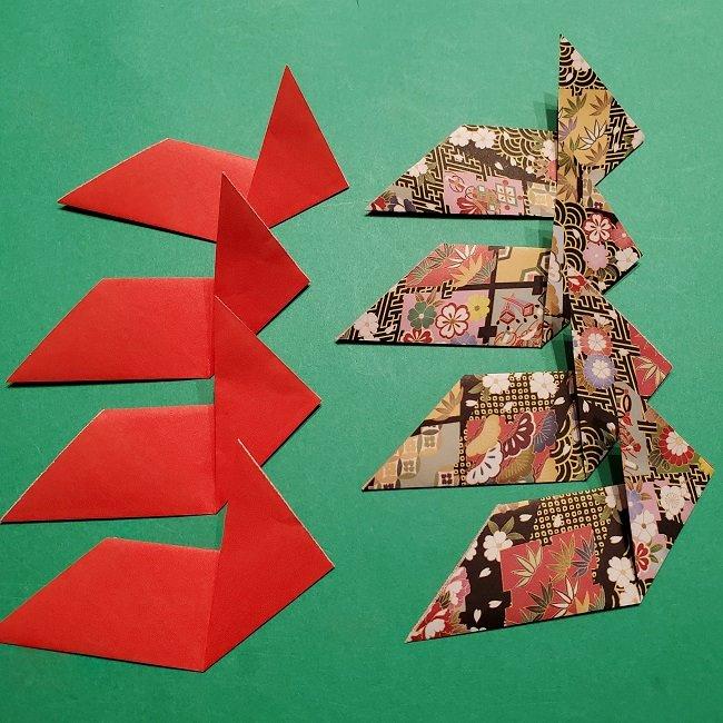 【1月】折り紙のお正月リースの作り方 (8)