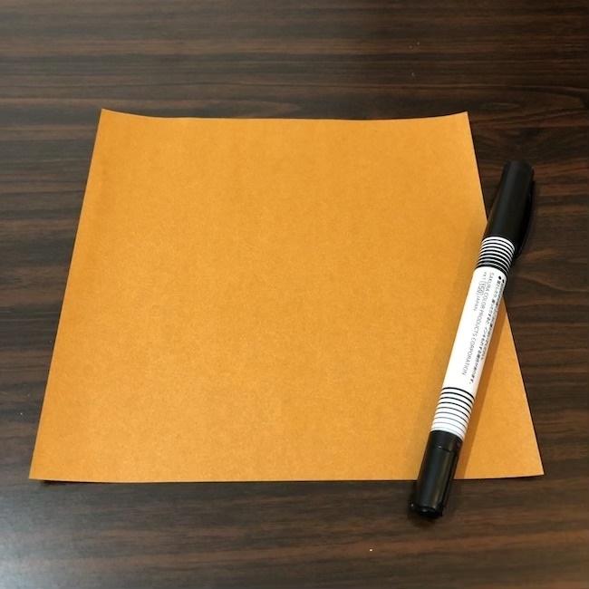 初秋の9月から秋深まる11月まで♪折り紙の『どんぐり』①1枚の折り紙でつくる