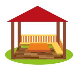 ベンチや休憩所など休む場所はどのくらいあるの?