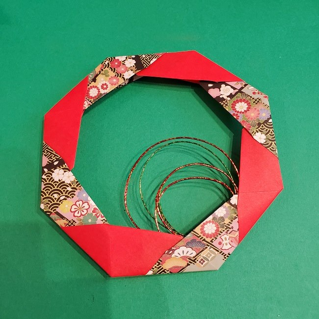 折り紙でつくるお正月飾り★水引と干支の牛でさらにかわいいアレンジ (2)