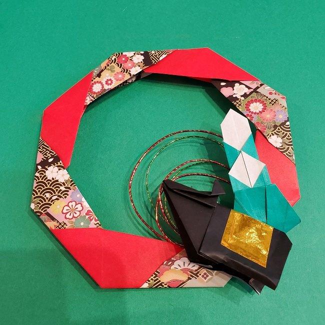 折り紙でつくるお正月飾り★水引と干支の牛でさらにかわいいアレンジ (3)