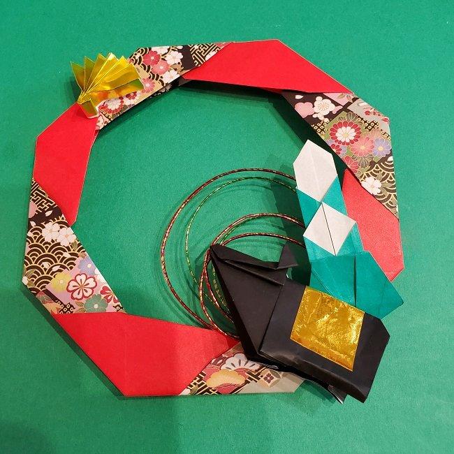 折り紙でつくるお正月飾り★水引と干支の牛でさらにかわいいアレンジ (4)