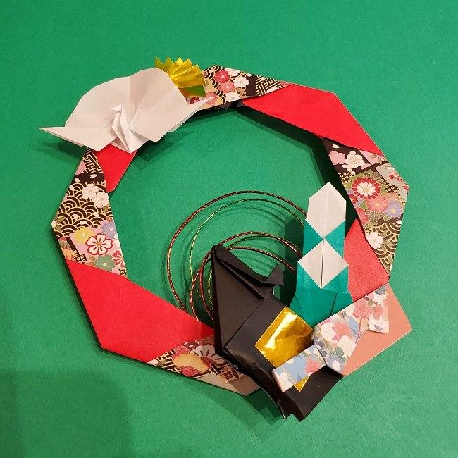 折り紙でつくるお正月飾り★水引と干支の牛でさらにかわいいアレンジ (5)