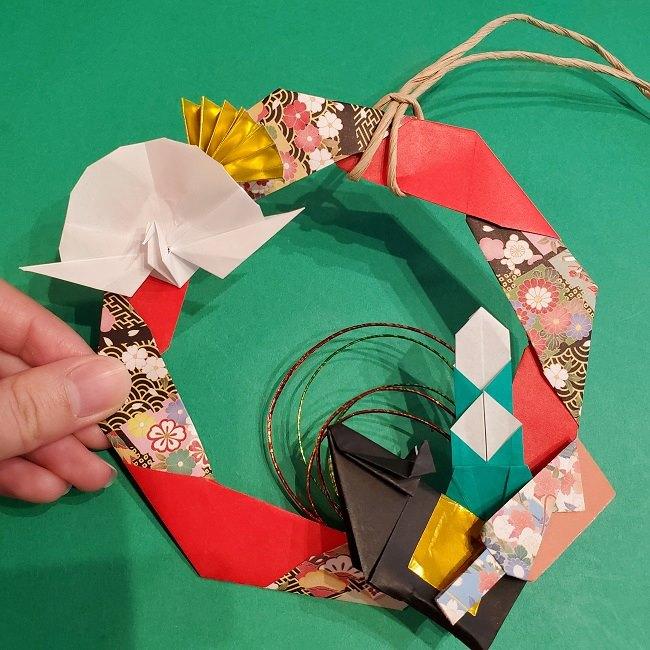 折り紙でつくるお正月飾り★水引と干支の牛でさらにかわいいアレンジ (6)
