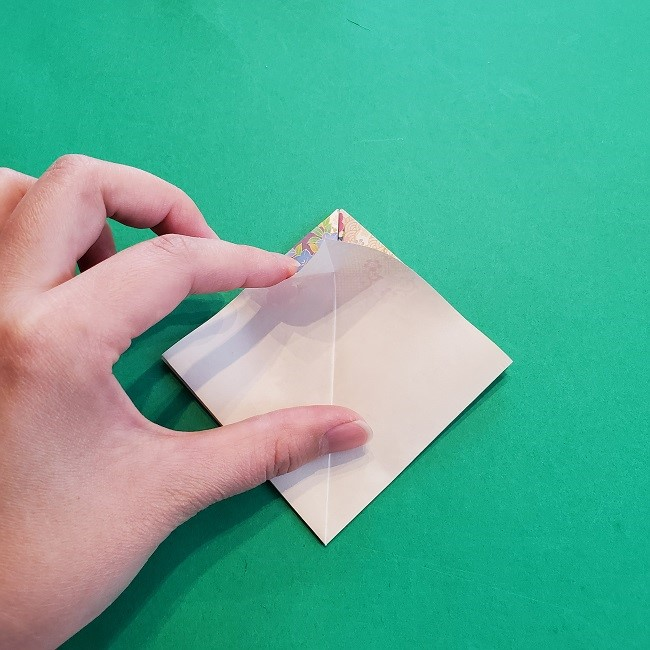 折り紙の【祝い鶴】の折り方(折り図) (10)