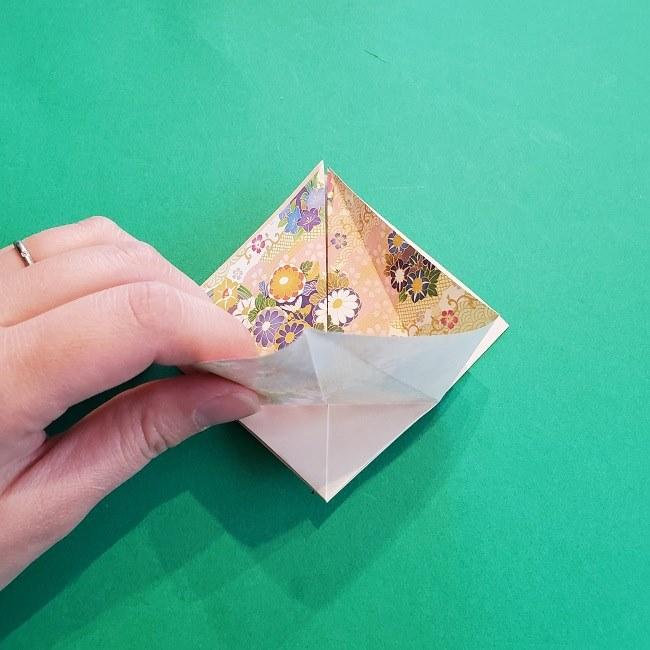折り紙の【祝い鶴】の折り方(折り図) (15)