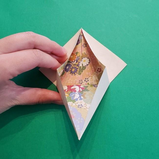 折り紙の【祝い鶴】の折り方(折り図) (16)