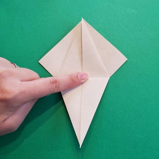 折り紙の【祝い鶴】の折り方(折り図) (17)