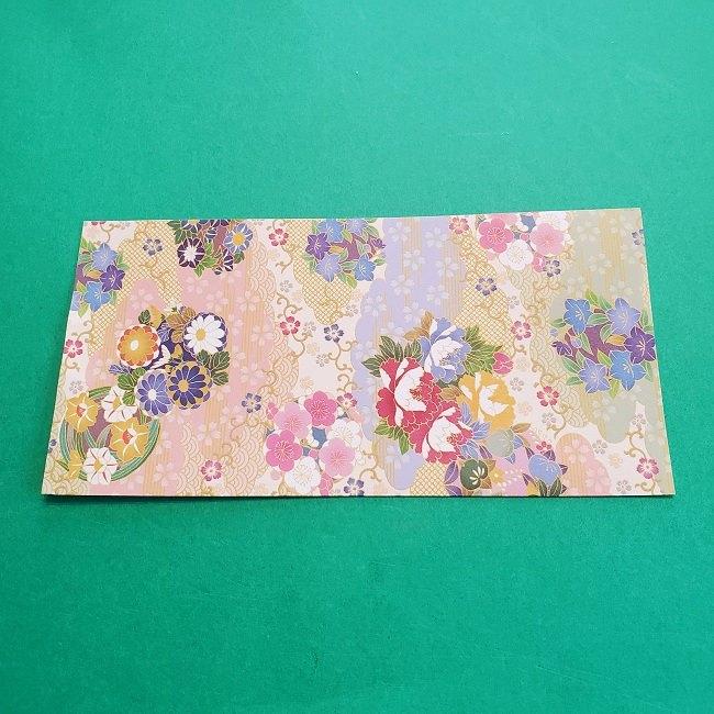 折り紙の【祝い鶴】の折り方(折り図) (1)