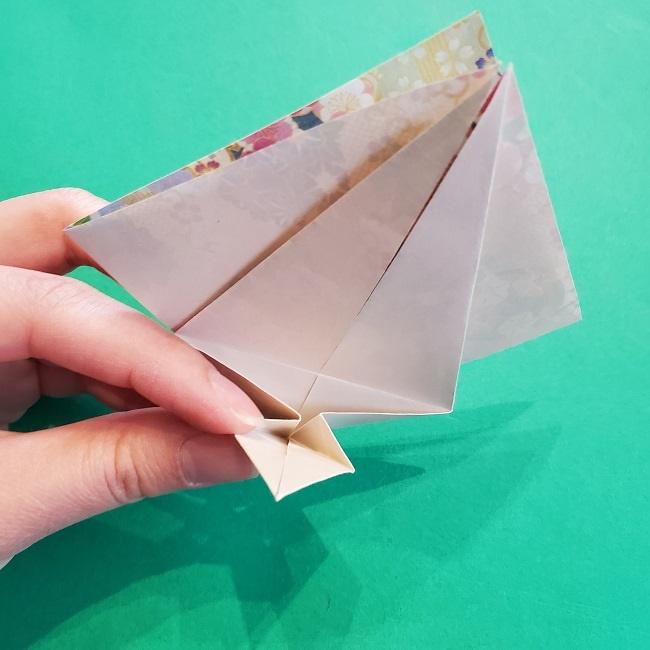 折り紙の【祝い鶴】の折り方(折り図) (25)