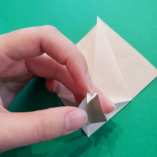 折り紙の【祝い鶴】の折り方(折り図) (28)
