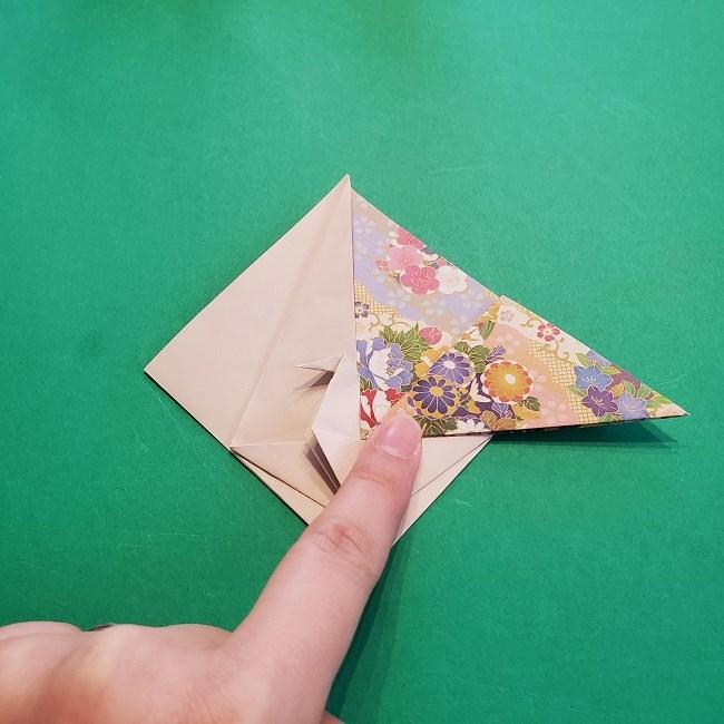折り紙の【祝い鶴】の折り方(折り図) (31)