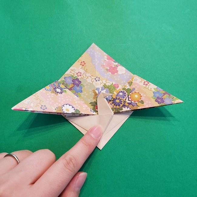 折り紙の【祝い鶴】の折り方(折り図) (32)