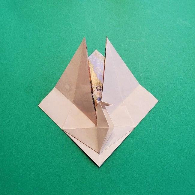 折り紙の【祝い鶴】の折り方(折り図) (33)