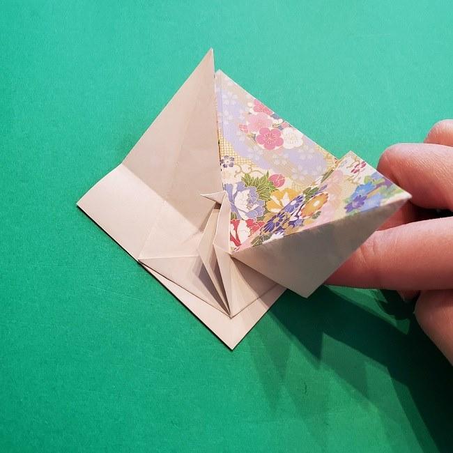 折り紙の【祝い鶴】の折り方(折り図) (34)