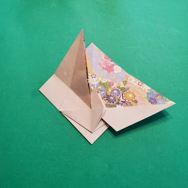 折り紙の【祝い鶴】の折り方(折り図) (35)