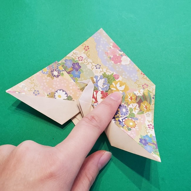 折り紙の【祝い鶴】の折り方(折り図) (37)