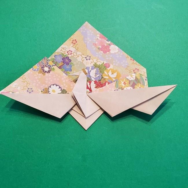 折り紙の【祝い鶴】の折り方(折り図) (39)