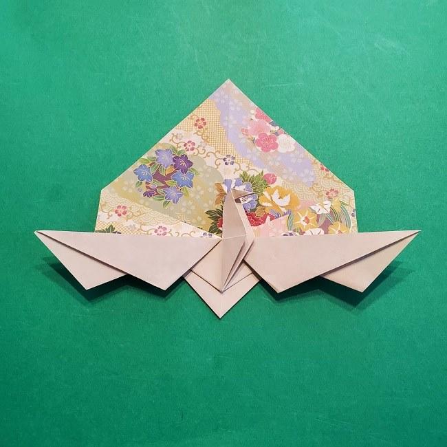 折り紙の【祝い鶴】の折り方(折り図) (40)