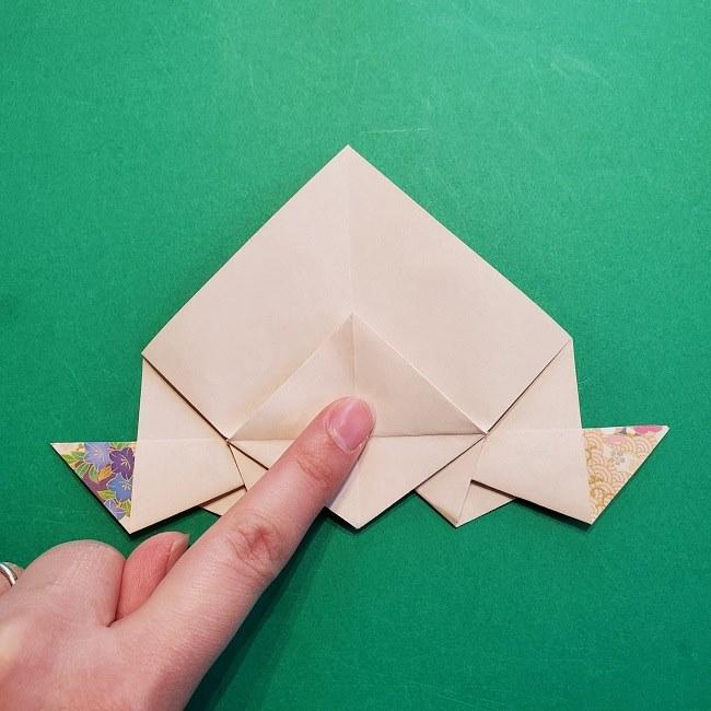 折り紙の【祝い鶴】の折り方(折り図) (42)