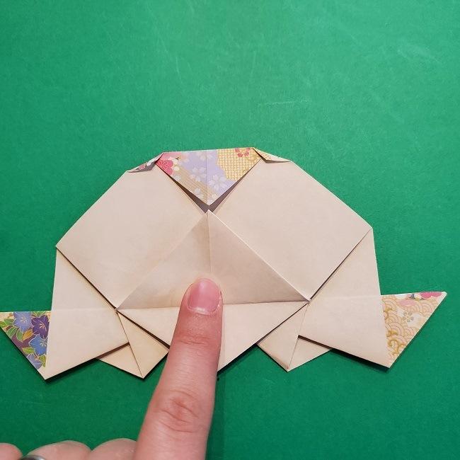 折り紙の【祝い鶴】の折り方(折り図) (44)