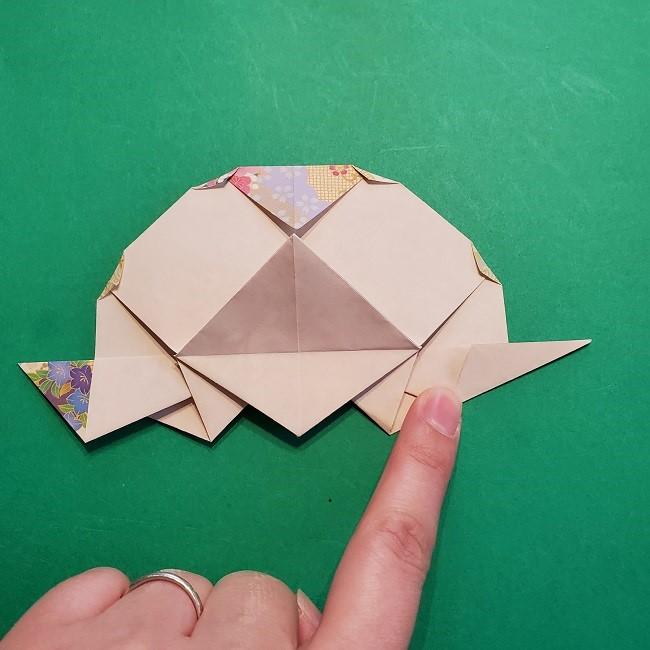 折り紙の【祝い鶴】の折り方(折り図) (46)
