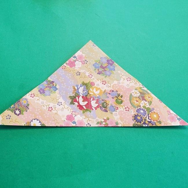 折り紙の【祝い鶴】の折り方(折り図) (5)