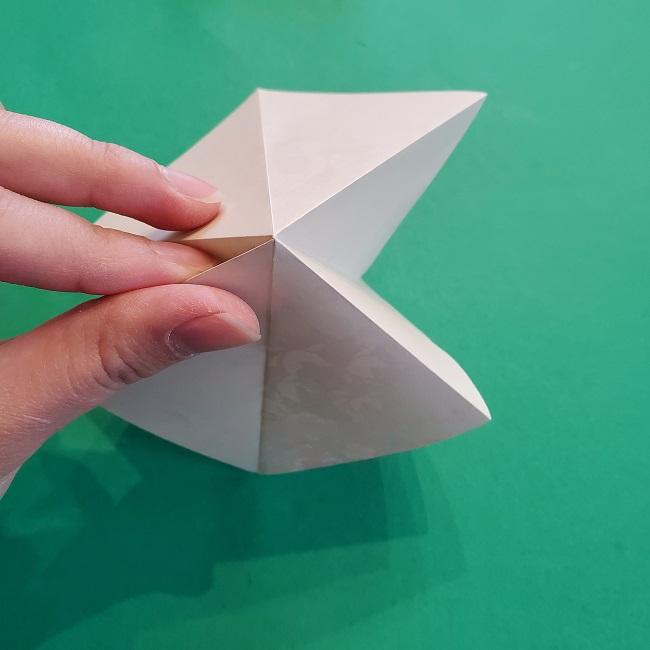 折り紙の【祝い鶴】の折り方(折り図) (9)