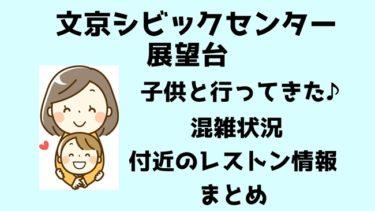 文京シビックセンターの展望台へ子供と行ってきた!混雑状況とレストラン情報