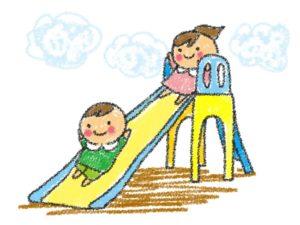 遊具は3つ!滑り台は0歳児の赤ちゃんでも滑れるかも⁉