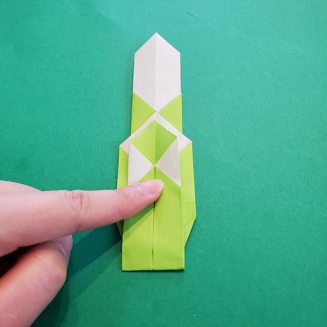 門松の折り紙:子どもとつくった折り方を紹介 (16)