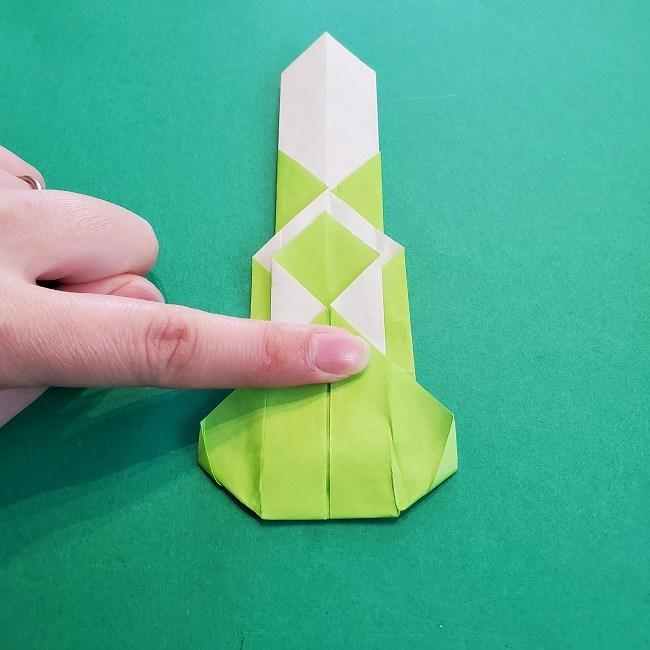 門松の折り紙:子どもとつくった折り方を紹介 (19)