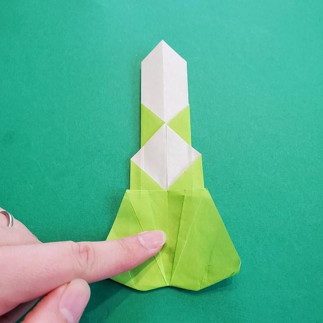 門松の折り紙:子どもとつくった折り方を紹介 (21)