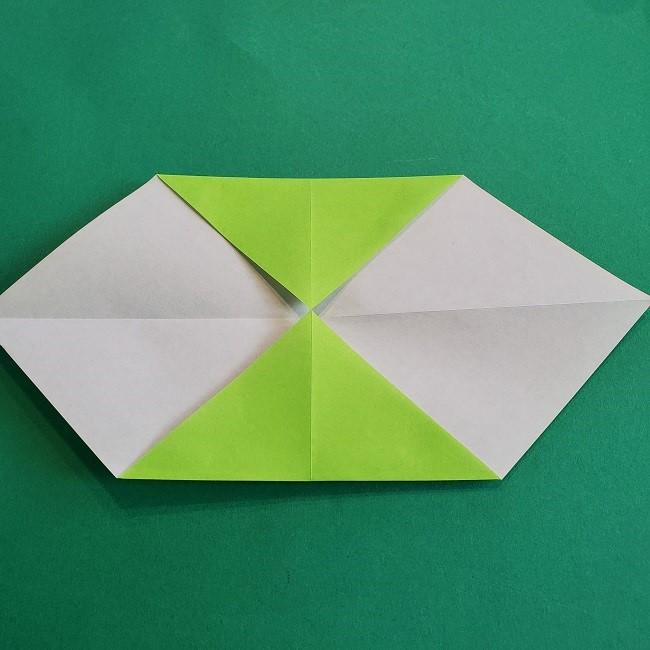 門松の折り紙:子どもとつくった折り方を紹介 (5)