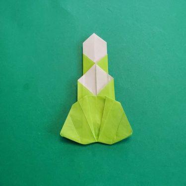門松の折り紙|子どもと作るかわいいお正月飾り♪1枚の折り紙でつくる平面の門松の折り方