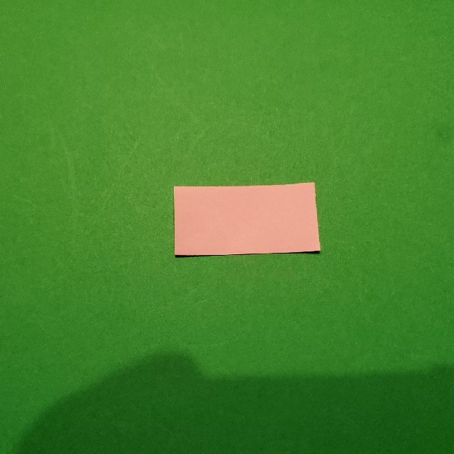 ねずこの髪飾りのリボン(折り紙は1/16サイズ)