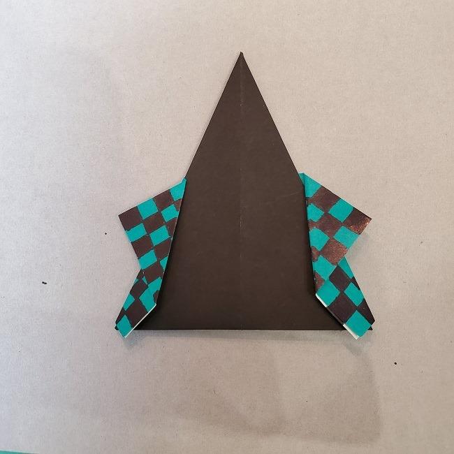 【鬼滅の刃の折り紙】折り方・作り方『たんじろう(炭治郎)』(画像つき折り図)羽織