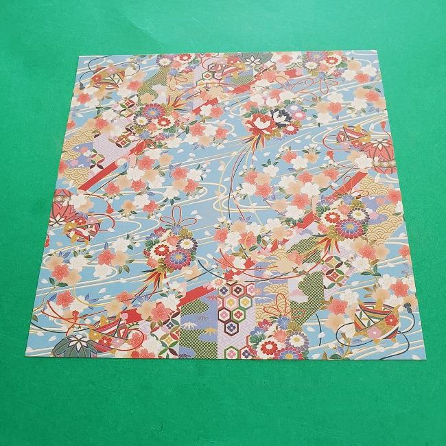 1月の折り紙【羽子板】の折り方・作り方 (1)