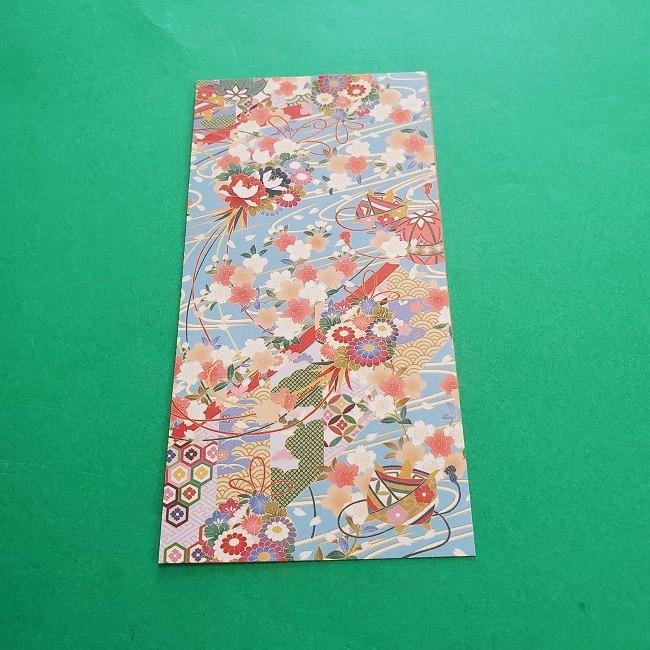 1月の折り紙【羽子板】の折り方・作り方 (2)