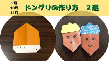 9月10月11月の折り紙【簡単♪どんぐりの折り方・作り方2選】秋の製作にピッタリ!